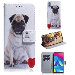 Pug Dog PU Leather Wallet Case for Samsung Galaxy A10