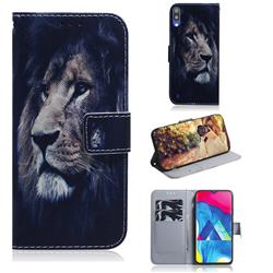 Lion Face PU Leather Wallet Case for Samsung Galaxy A10