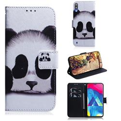 Sleeping Panda PU Leather Wallet Case for Samsung Galaxy A10