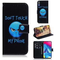 Not Touch My Phone PU Leather Wallet Case for Samsung Galaxy A10