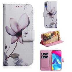 Magnolia Flower PU Leather Wallet Case for Samsung Galaxy A10