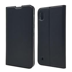 Ultra Slim Card Magnetic Automatic Suction Leather Wallet Case for Samsung Galaxy A10 - Star Grey