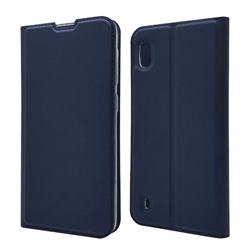 Ultra Slim Card Magnetic Automatic Suction Leather Wallet Case for Samsung Galaxy A10 - Royal Blue