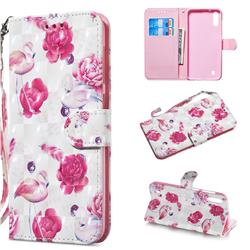 Flamingo 3D Painted Leather Wallet Phone Case for Samsung Galaxy A10