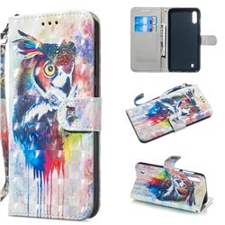 Watercolor Owl 3D Painted Leather Wallet Phone Case for Samsung Galaxy A10