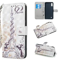 Tower Couple 3D Painted Leather Wallet Phone Case for Samsung Galaxy A10