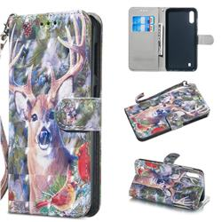 Elk Deer 3D Painted Leather Wallet Phone Case for Samsung Galaxy A10