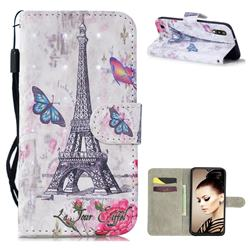 Paris Tower 3D Painted Leather Wallet Phone Case for Samsung Galaxy A10