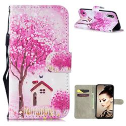 Tree House 3D Painted Leather Wallet Phone Case for Samsung Galaxy A10