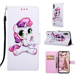 Playful Pony Matte Leather Wallet Phone Case for Samsung Galaxy A10