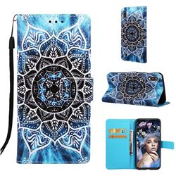 Underwater Mandala Matte Leather Wallet Phone Case for Samsung Galaxy A10
