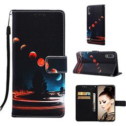 Wandering Earth Matte Leather Wallet Phone Case for Samsung Galaxy A10