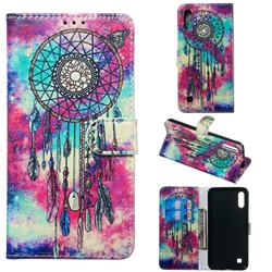 Butterfly Chimes PU Leather Wallet Case for Samsung Galaxy A10