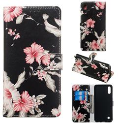 Azalea Flower PU Leather Wallet Case for Samsung Galaxy A10