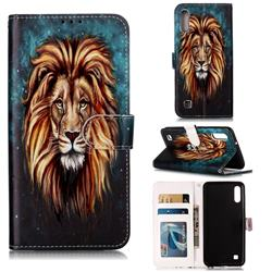 Ice Lion 3D Relief Oil PU Leather Wallet Case for Samsung Galaxy A10
