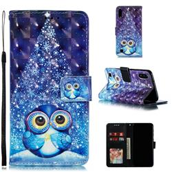 Stage Owl 3D Painted Leather Phone Wallet Case for Samsung Galaxy A10