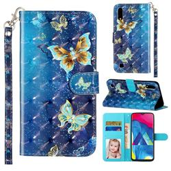 Rankine Butterfly 3D Leather Phone Holster Wallet Case for Samsung Galaxy A10