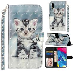 Kitten Cat 3D Leather Phone Holster Wallet Case for Samsung Galaxy A10