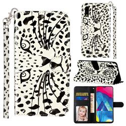 Leopard Panther 3D Leather Phone Holster Wallet Case for Samsung Galaxy A10