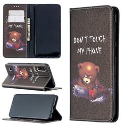 Chainsaw Bear Slim Magnetic Attraction Wallet Flip Cover for Samsung Galaxy A10