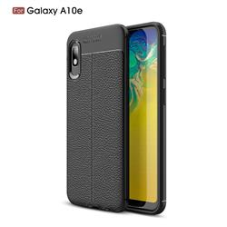 Luxury Auto Focus Litchi Texture Silicone TPU Back Cover for Samsung Galaxy A10e - Black