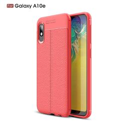 Luxury Auto Focus Litchi Texture Silicone TPU Back Cover for Samsung Galaxy A10e - Red