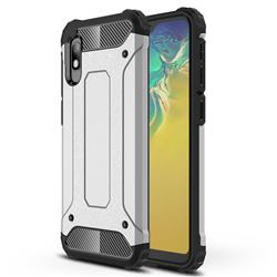 King Kong Armor Premium Shockproof Dual Layer Rugged Hard Cover for Samsung Galaxy A10e - White