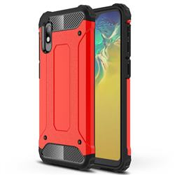 King Kong Armor Premium Shockproof Dual Layer Rugged Hard Cover for Samsung Galaxy A10e - Big Red