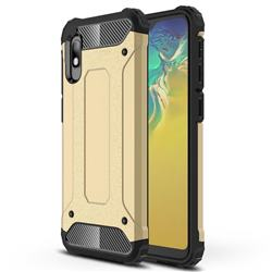 King Kong Armor Premium Shockproof Dual Layer Rugged Hard Cover for Samsung Galaxy A10e - Champagne Gold