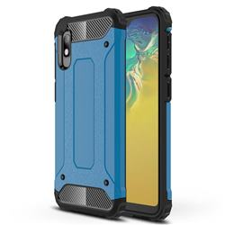 King Kong Armor Premium Shockproof Dual Layer Rugged Hard Cover for Samsung Galaxy A10e - Sky Blue