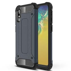 King Kong Armor Premium Shockproof Dual Layer Rugged Hard Cover for Samsung Galaxy A10e - Navy