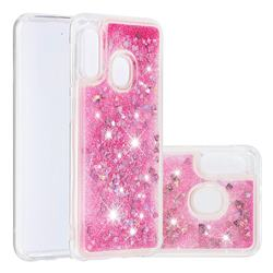 Dynamic Liquid Glitter Quicksand Sequins TPU Phone Case for Samsung Galaxy A10e - Rose