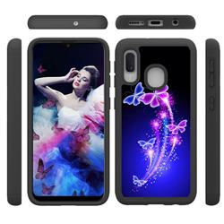 Dancing Butterflies Shock Absorbing Hybrid Defender Rugged Phone Case Cover for Samsung Galaxy A10e