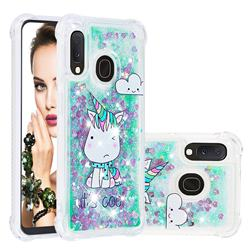 Tiny Unicorn Dynamic Liquid Glitter Sand Quicksand Star TPU Case for Samsung Galaxy A10e