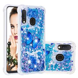 Flower Butterfly Dynamic Liquid Glitter Sand Quicksand Star TPU Case for Samsung Galaxy A10e