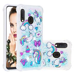 Fashion Unicorn Dynamic Liquid Glitter Sand Quicksand Star TPU Case for Samsung Galaxy A10e