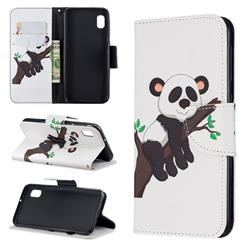 Tree Panda Leather Wallet Case for Samsung Galaxy A10e