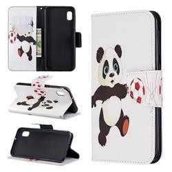 Football Panda Leather Wallet Case for Samsung Galaxy A10e