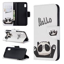 Hello Panda Leather Wallet Case for Samsung Galaxy A10e