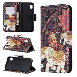 Totem Flower Elephant Leather Wallet Case for Samsung Galaxy A10e