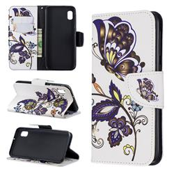 Butterflies and Flowers Leather Wallet Case for Samsung Galaxy A10e