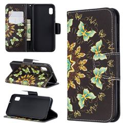 Circle Butterflies Leather Wallet Case for Samsung Galaxy A10e