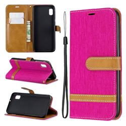 Jeans Cowboy Denim Leather Wallet Case for Samsung Galaxy A10e - Rose
