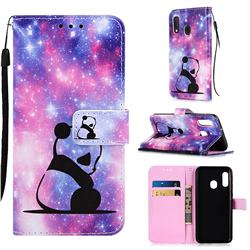 Panda Baby Matte Leather Wallet Phone Case for Samsung Galaxy A10e