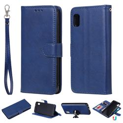 Retro Greek Detachable Magnetic PU Leather Wallet Phone Case for Samsung Galaxy A10e - Blue