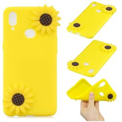 Yellow Sunflower Soft 3D Silicone Case for Samsung Galaxy A10s