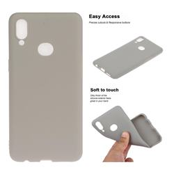 Soft Matte Silicone Phone Cover for Samsung Galaxy A10s - Gray