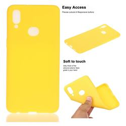 Soft Matte Silicone Phone Cover for Samsung Galaxy A10s - Yellow