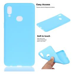 Soft Matte Silicone Phone Cover for Samsung Galaxy A10s - Sky Blue