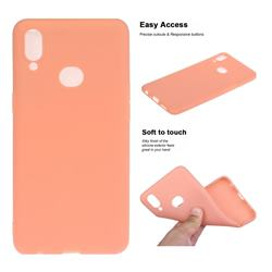 Soft Matte Silicone Phone Cover for Samsung Galaxy A10s - Coral Orange